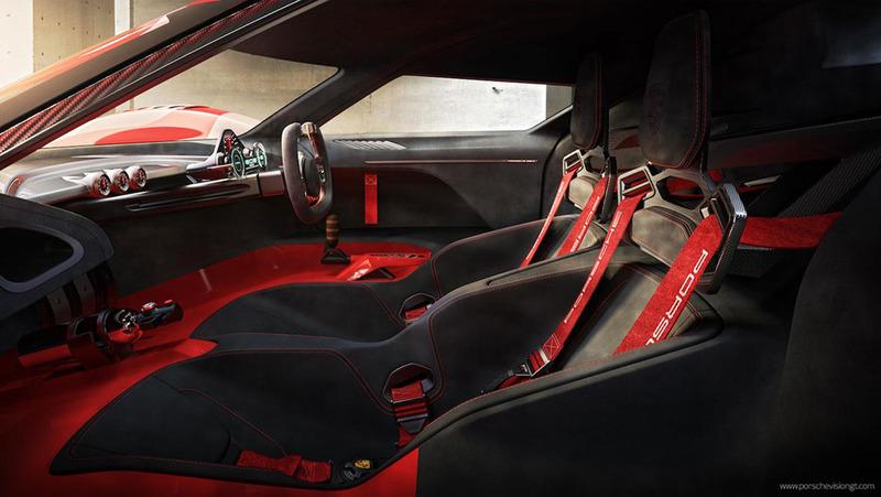 Интерьер концептуального Porsche 908