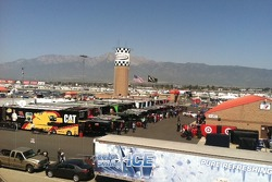 View of the paddock from the spotters stand