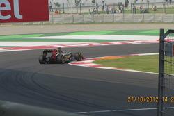 Raikkonen at turn 1