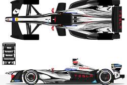 Tesla Formula E livery concept