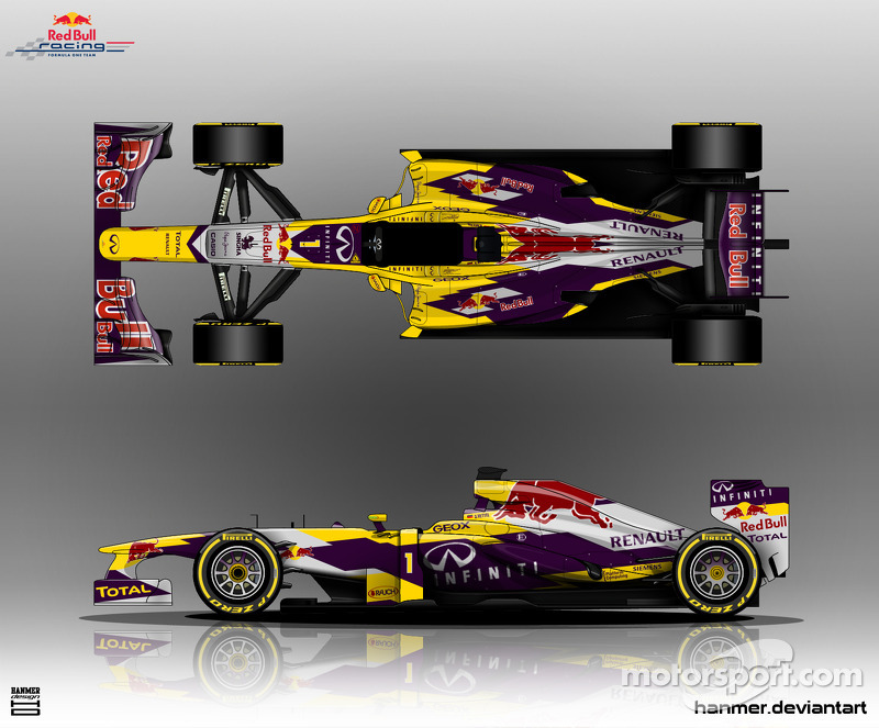 Alternative Red Bull F1 livery