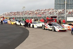 Ferrari Challenge NA Competitors line up on the  pre-grid