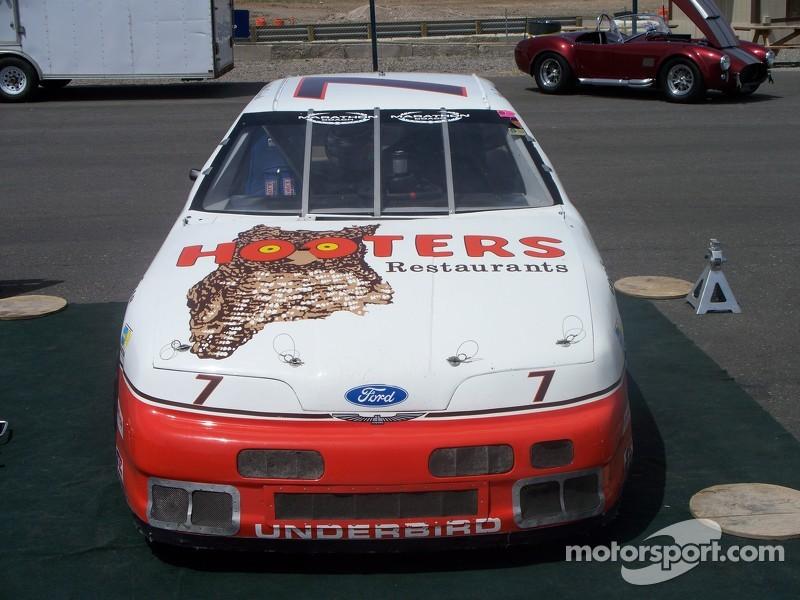 Alan Kulwicki Hooters Thunderbird in the paddock at Reno Fernley Raceway