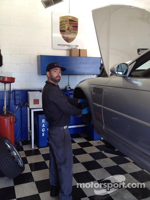 BTM Motorwerks technician Josh Mabie at work