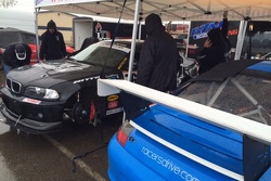 Working on Mike Sekhon's BMW M3 in the rain