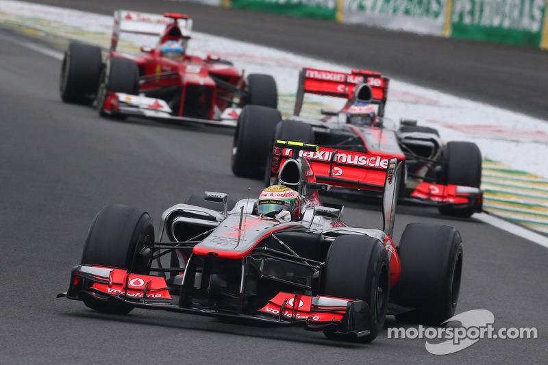 السباق الأخير مع مكلارين عام 2012