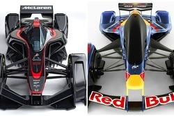 Vergleich der F1-Vision: McLaren und Red Bull
