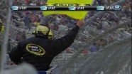 Gilliland Into Wall - Auto Club Speedway 2011