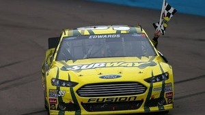 Carl Edwards wins the Subway Fresh Fit 500 in Phoenix!