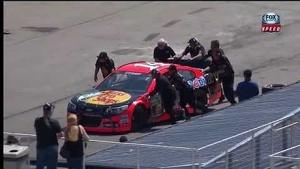 NASCAR Tony Stewart Hits the Wall During Practice at Michigan 2013