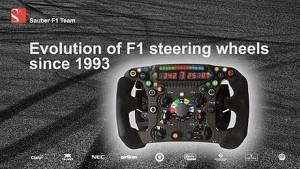 Tech Bites: Evolution of F1 Steering Wheels since 1993 - Sauber F1 Team