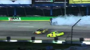 Bubba Wallace crashes out   UNOH 225 NASCAR Kentucky