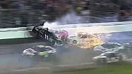 Denny Hamlin Airborne During Huge Wreck | Coke Zero 400, Daytona