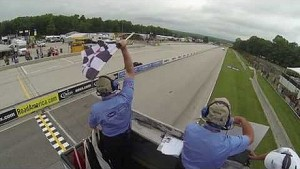 Checkered Flag At Road America - ALMS - Tequila Patron - ESPN - Sports Cars - Racing - USCR