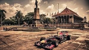 #4F1fans - Daniel Ricciardo and the Formula One show car in Sri Lanka