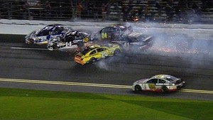 Matt Kenseth starts huge wreck in Sprint Unlimited - 2014 NASCAR Sprint Cup