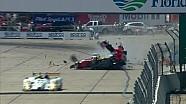2014 United SportsCar Championship 12 Hours of of Sebring David Ostella massive crash