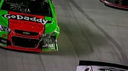 Bristol: Danica Patrick runs into Clint Bowyer on pit road