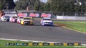 V8 Supercars 2014 - ITM 500 Auckland - Crash between Tim Slade and Jason Bright