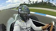 Nico Rosberg selfie video: driving Fangio's Mercedes W196 silver arrow from 1954