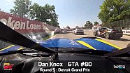 Detroit 2014 - Dan Knox On Board Highlights of Round 5 GT-A