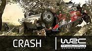 Juho Hanninen Crash/ SS05 Rally Italia Sardegna 2014