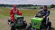 Lawnmower racing with Kimi