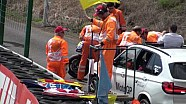 Double crash for Rossi and Bautista during qualifying for the Czech GP