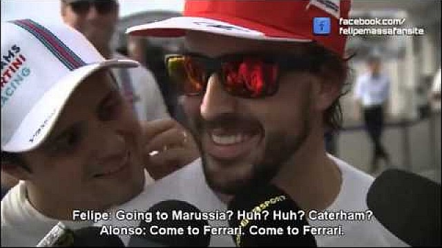Felipe crashes Alonso's interview: going to Marussia? Caterham?