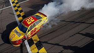 Joey Logano wins at Kansas Speedway