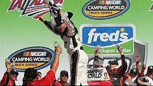 Peters celebrates NCWTS win at Talladega