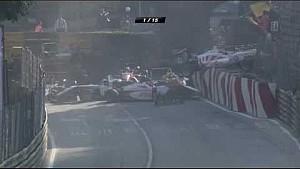 The start crash of the Formula 3 Race at Macau