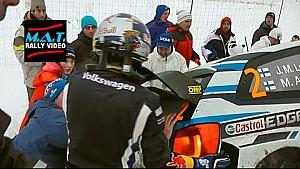 Rally Sweden - Jari-Matti Latvala spin and rescue