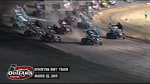 Aspectos destacados: Mundo de Outlaws Sprint Cars Stockton Pista de Tierra 22 de marzo 2015