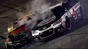 Johnson and Burton wreck, Harvick gets caught up
