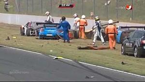 ADAC GT Masters 2014 Oschersleben Startunfall