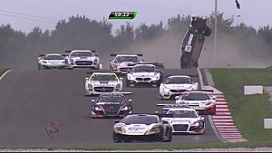 Enge's massive accident, BlancPain GT Series 2014 at Slovakia Ring