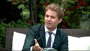 Nico Rosberg con la realeza en el GP de Mónaco 2015