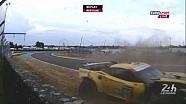Magnussen crashes Porsche Curves