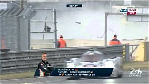 Roald Goethe big crash - 24 Hours of Le Mans