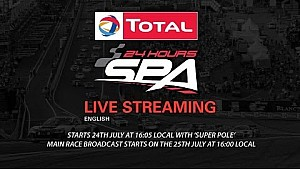 LIVE 24 Hours of Spa 2015 -  Part 1