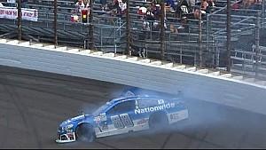 Earnhardt Jr. and Kahne collide after restart