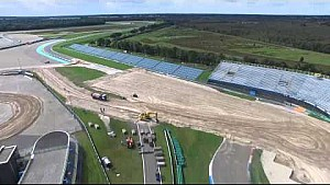 Assen MXGP of The Netherlands track construction