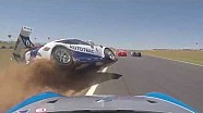 Pedro Piquet crash seen from different in-car cameras