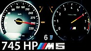 BMW M5 F10 Acceleration 745 HP 0-300 Onboard V8 Sound Exhaust Aulitzky Tuning