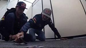 Verstappen vs Sainz: Voetbal-memory