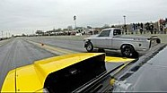 Close Race between nitrous Truck vs turbo Mustang