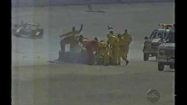 Tony Stewart Hard Crash Las Vegas 1996