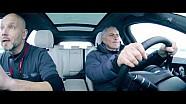 Jose Mourinho s'essaie à la conduite sur glace au volant du Jaguar F-PACE