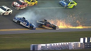 Oil on track ignites practice wreck - Daytona 500